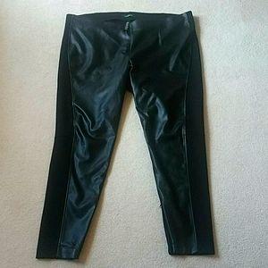 Lauren Ralph Lauren black faux leather front pants